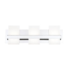 Cambridge Chrome Three-Light LED Vanity Bar
