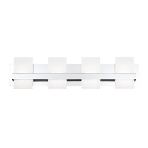 Cambridge Chrome Four-Light LED Vanity Bar