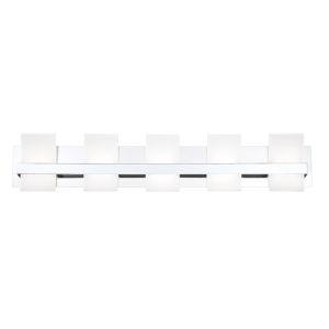 Cambridge Chrome Five-Light LED Vanity Bar