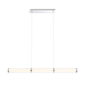 Shaw Chrome One-Light 36-Inch LED Chandelier