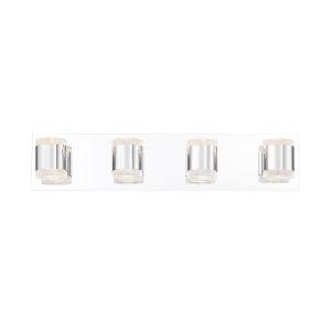 Seaton Chrome Four-Light LED Vanity Bar