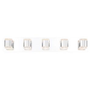 Seaton Chrome Five-Light LED Vanity Bar