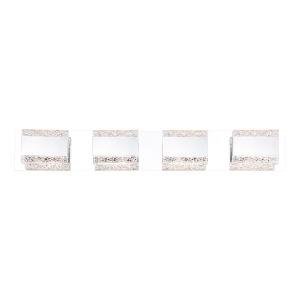 Nelson Chrome Four-Light 3-Inch LED Vanity Bar