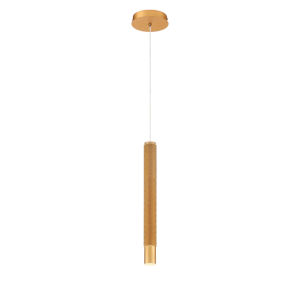Davenport Gold One-Light 2-Inch LED Mini Pendant with 3000 Kelvin 255 Lumens