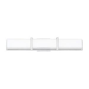 Gerrard Chrome One-Light 3-Inch LED Bath bar with 3000 Kelvin 2240 Lumens