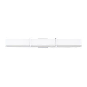 Gerrard Chrome One-Light 3-Inch LED Bath bar with 3000 Kelvin 3200 Lumens