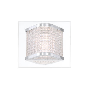 Belgroue Chrome Six-Light LED Wall Sconce