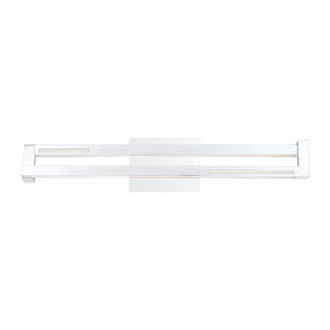 Clinton Chrome One-Light 4-Inch LED Vanity Bar with 3000 Kelvin 1105 Lumens