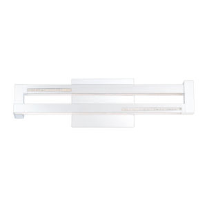 Clinton Chrome One-Light 4-Inch LED Vanity Bar with 3000 Kelvin 684 Lumens