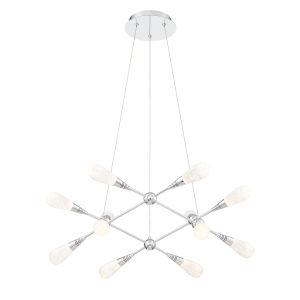 Manning Chrome 12-Light LED Chandelier