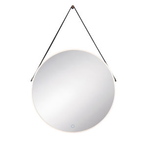 Silver One-Light LED Mirror