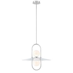 Millbrook Chrome Two-Light LED Chandelier