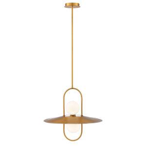 Millbrook Brass Two-Light LED Chandelier
