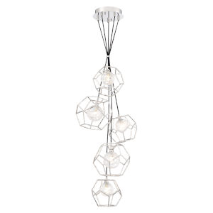 Norway Chrome Five-Light LED Cluster Chandelier