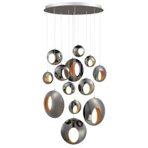 Arlington Chrome 13-Light LED Cluster Chandelier