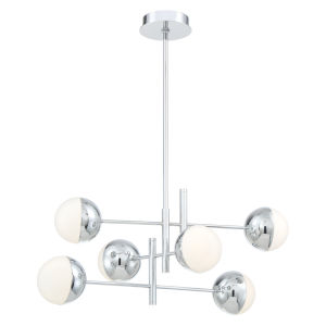 Fairmount Chrome Six-Light LED Chandelier