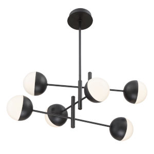 Fairmount Black Six-Light LED Chandelier