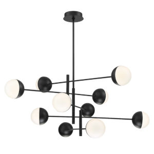 Fairmount Matte Black 10-Light LED Chandelier