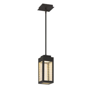 Coop Black and Gold One-Light LED Mini Pendant