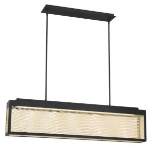 Coop Black and Gold One-Light 36-Inch LED Chandelier