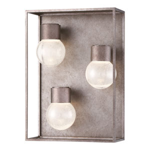 Gibson Metal Three-Light LED Outdoor Wall Sconce