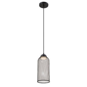 Kenmore Black One-Light 6-Inch LED Mini Pendant with 135 Lumens