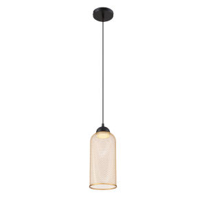 Kenmore Black One-Light 6-Inch LED Mini Pendant with 3000 Kelvin 135 Lumens