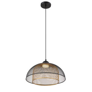 Kenmore Black and Gold One-Light LED Pendant