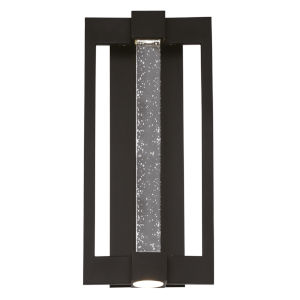 Hanson Black Three-Light LED Outdoor Wall Sconce