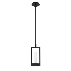 Hanson Black Two-Light LED Mini Pendant