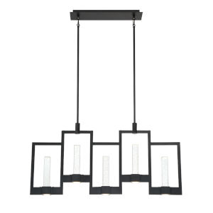 Hanson Black Ten-Light LED Chandelier