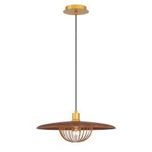 Landigo Brown One-Light Pendant