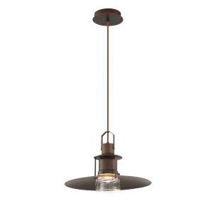 Lamport Bronze One-Light LED Pendant