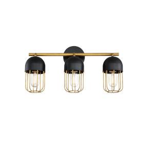 Palmerston Black Three-Light Vanity Bar