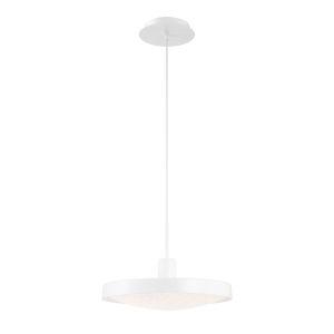Sandstone White One-Light 14-Inch LED Pendant