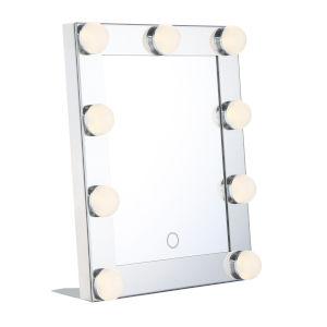 Chrome Nine-Light LED Mirror