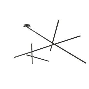 Crossroads Black Nine-Light LED Flush mount