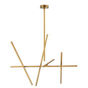 Crossroads Antique Brass Ten-Light LED Chandelier