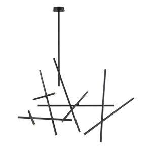 Crossroads Black 27-Inch 18-Light LED Chandelier