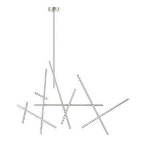 Crossroads Satin Nickel 27-Inch 18-Light LED Chandelier