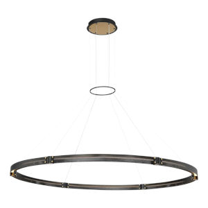 Admiral Matte Black and Gold 10-Light LED Chandelier