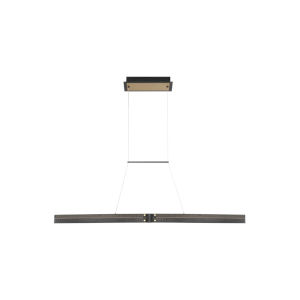 Admiral Matte Black and Gold LED Small Linear Pendant