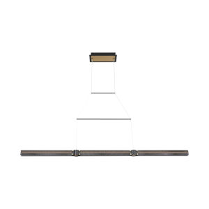 Admiral Matte Black and Gold LED Linear Pendant