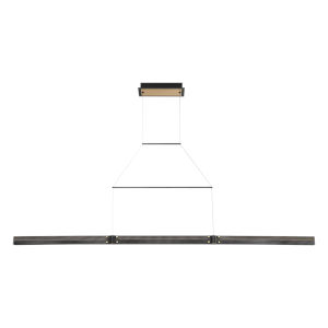 Admiral Matte Black and Gold LED Large Linear Pendant