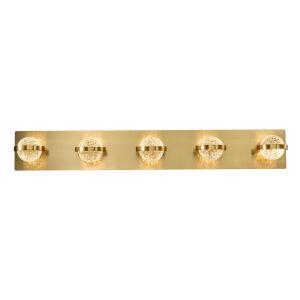 Ryder Gold 33-Inch Five-Light LED Bath Vanity