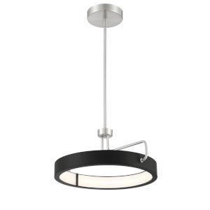 Pemberton Satin Nickel Eight-Inch LED Pendant