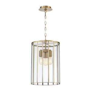 Saville Brass Three-Light Pendant