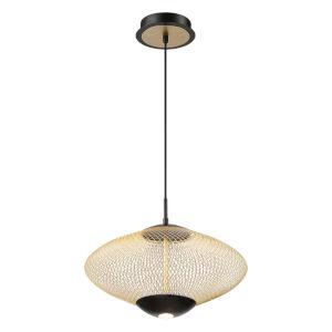Park Gold and Black Two-Light LED Pendant