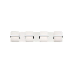 Raylan Chrome 28-Inch Four-Light LED Bath Vanity