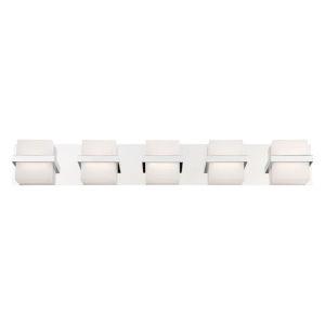 Raylan Chrome 36-Inch Five-Light LED Bath Vanity